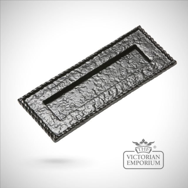 Black iron handcrafted letterplate - 2 sizes