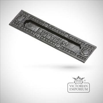 Traditional cast door furniture letter plate letterbox box- old classical victorian decorative reclaimed-vet540