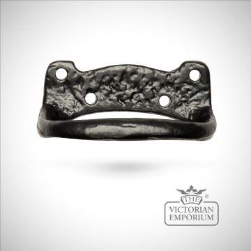 Black iron handcrafted decorative sash pull