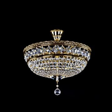 Marla basket chandelier with centre drop