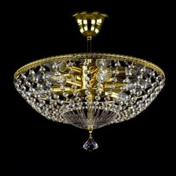 Agathe small basket chandelier with drops