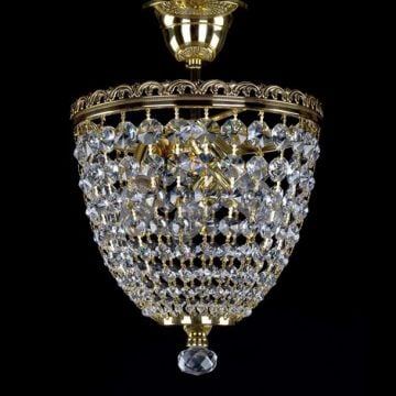 Shellie small basket chandelier