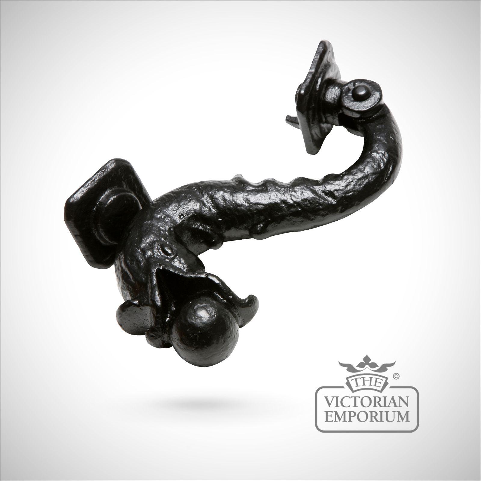 Black iron dolphin handcrafted door knocker door knockers - Dolphin door knocker ...