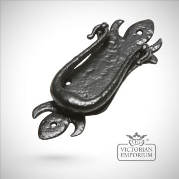 Black iron handcrafted traditional door knocker