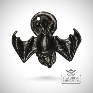 Black iron bat handcrafted door knocker