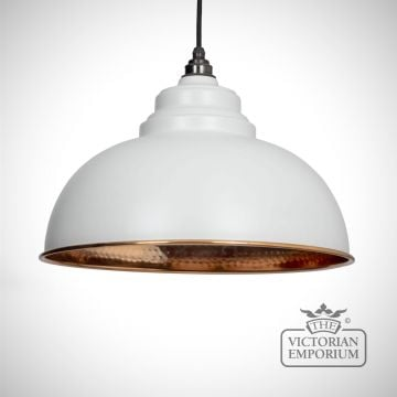 Harlow pendant in light grey with copper interior