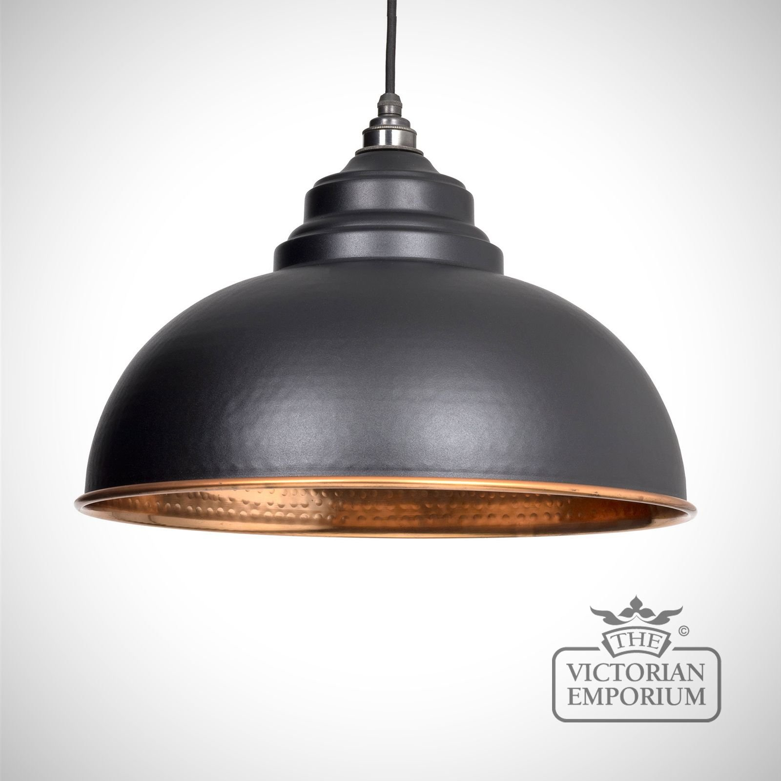 Harlow Pendant In Black With Copper Interior Interior Ceiling And Hanging Lights