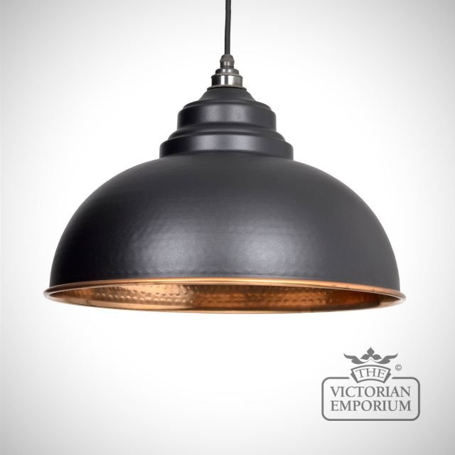 Harlow pendant in black with copper interior