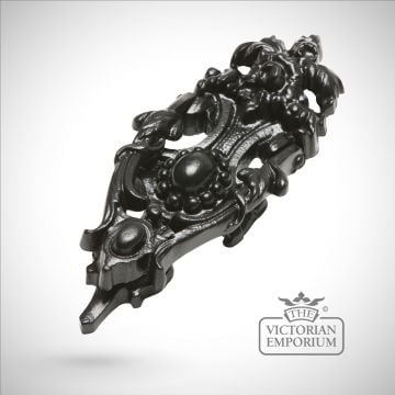 Black iron handcrafted leaf design door knocker