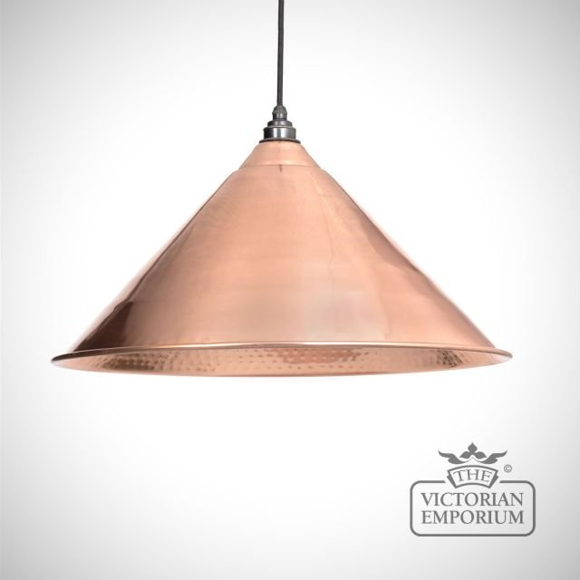 Hockliffe pendant in hammered copper