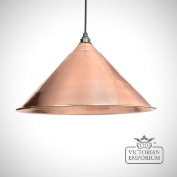 Hockliffe pendant in black and hammered copper