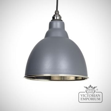 Brindle pendant in matt dark grey with nickel interior