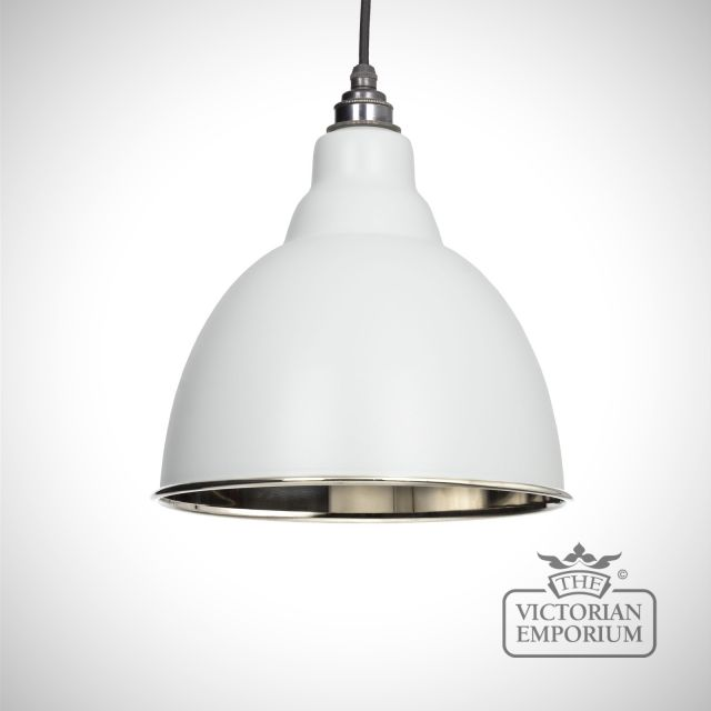 Brindle pendant in light grey with nickel interior