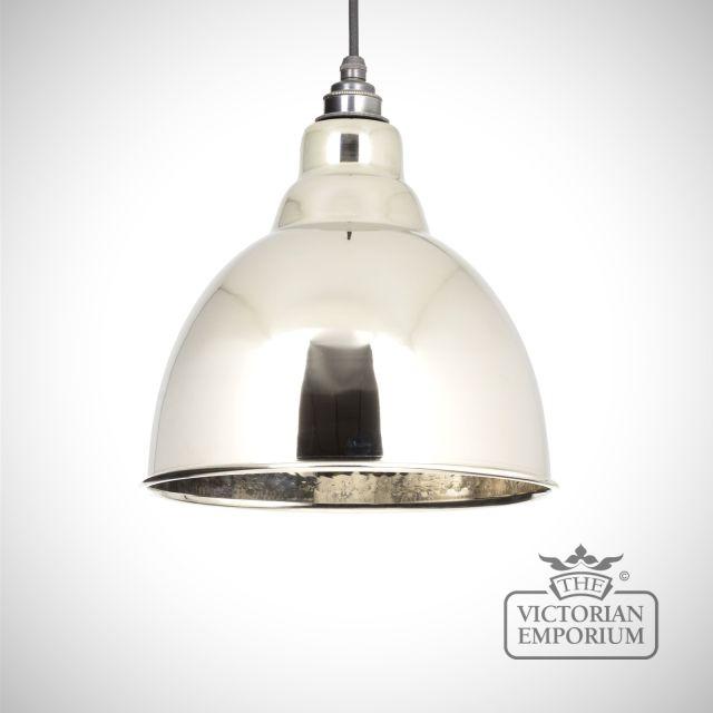 Brindle pendant in hammered nickel