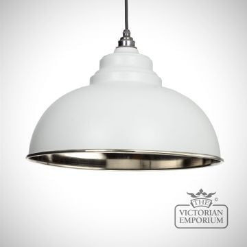 Harlow pendant in light grey with nickel interior