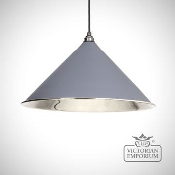 Hockliffe pendant in dark grey and smooth nickel