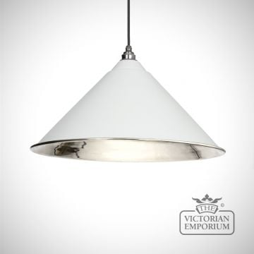 Hockliffe pendant in light grey and smooth nickel