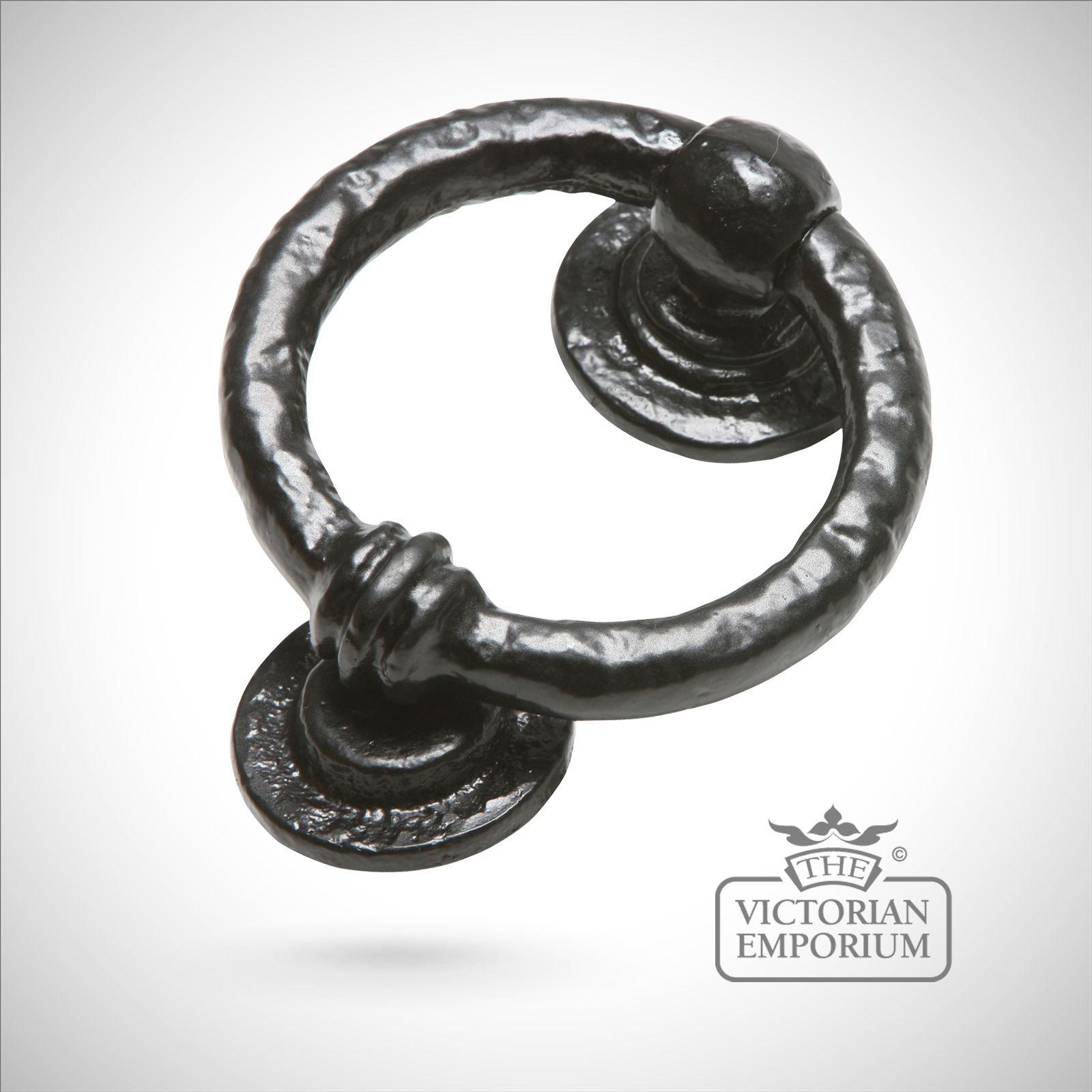 Black Iron Handcrafted Round Door Knocker Knockers