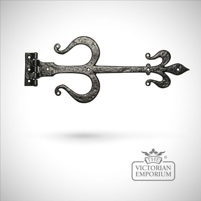 Black iron handcrafted hinge pair - Style 1