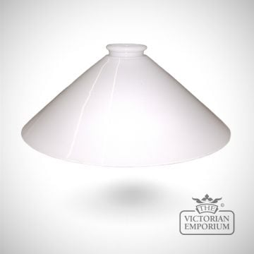 Flashed opal triangular shade in white