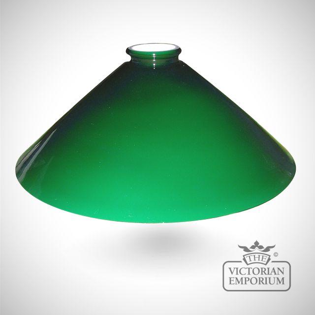 Flashed opal triangular shade in green