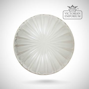 Melon shade in clear or etched glass