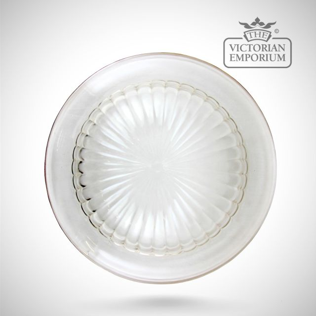 Moule shade in clear or etched glass