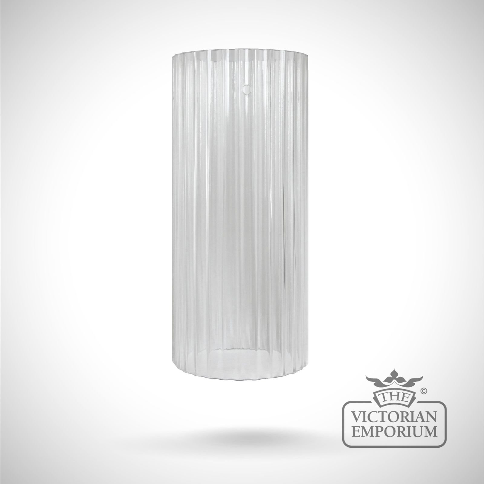 Clear Reeded Glass Cylinder The Victorian Emporium