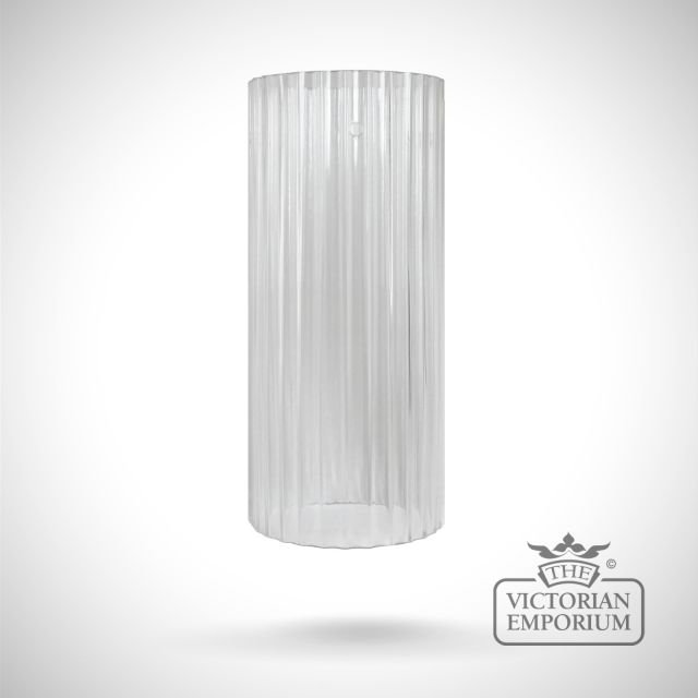 Clear reeded glass cylinder