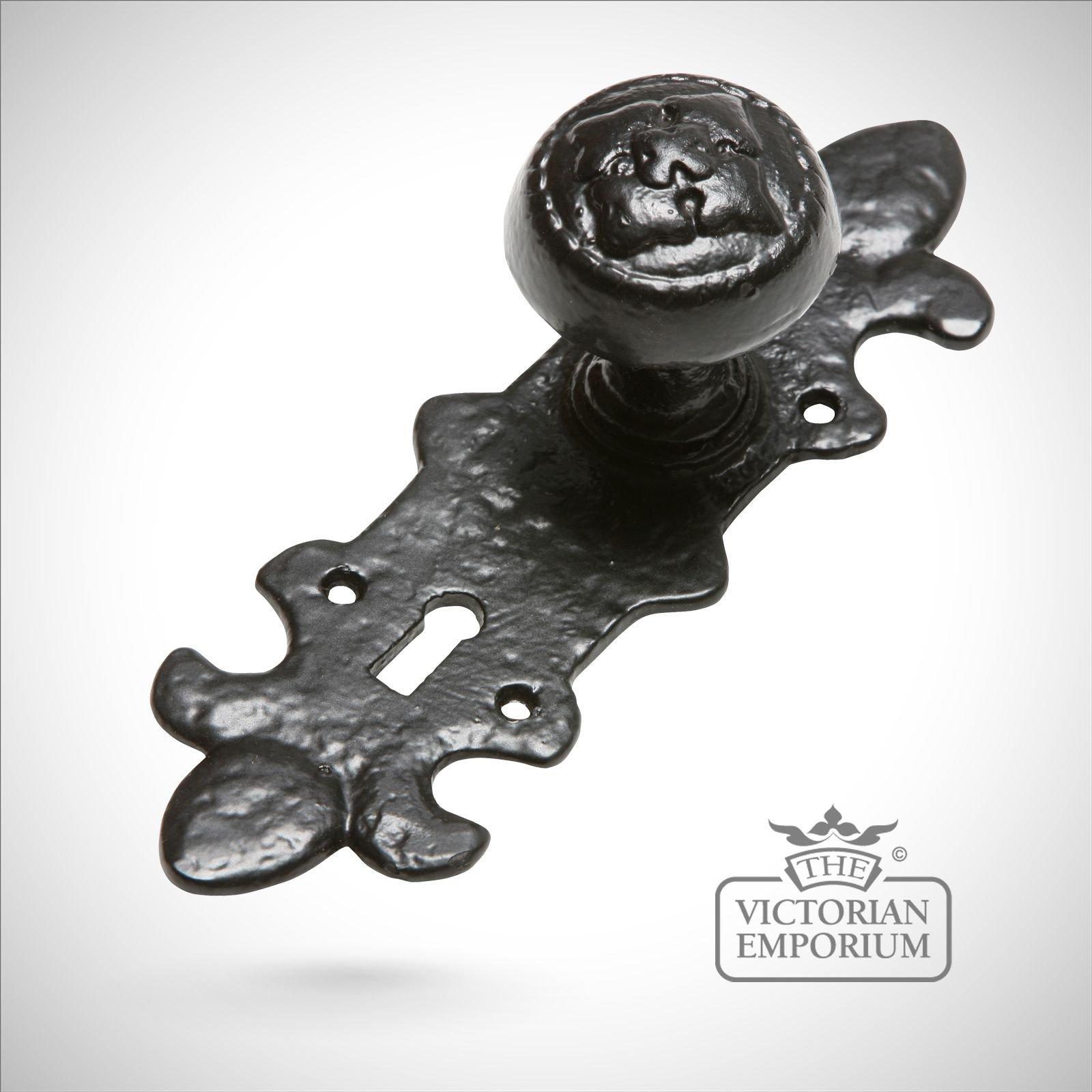 black iron handcrafted highly decorative door knob door knobs and door handles
