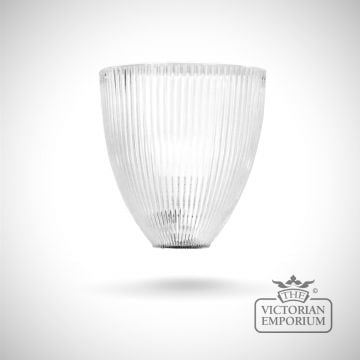 Prismatics elongated clear half wall lights in a choice of sizes