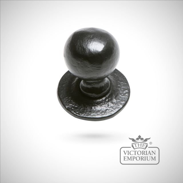 Black iron handcrafted cupboard knob