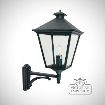 Turin Up Wall Lantern - Black