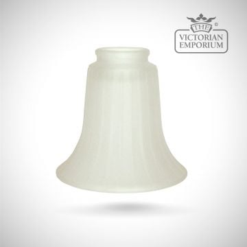 Etched fluted shade in choice of off white or amber