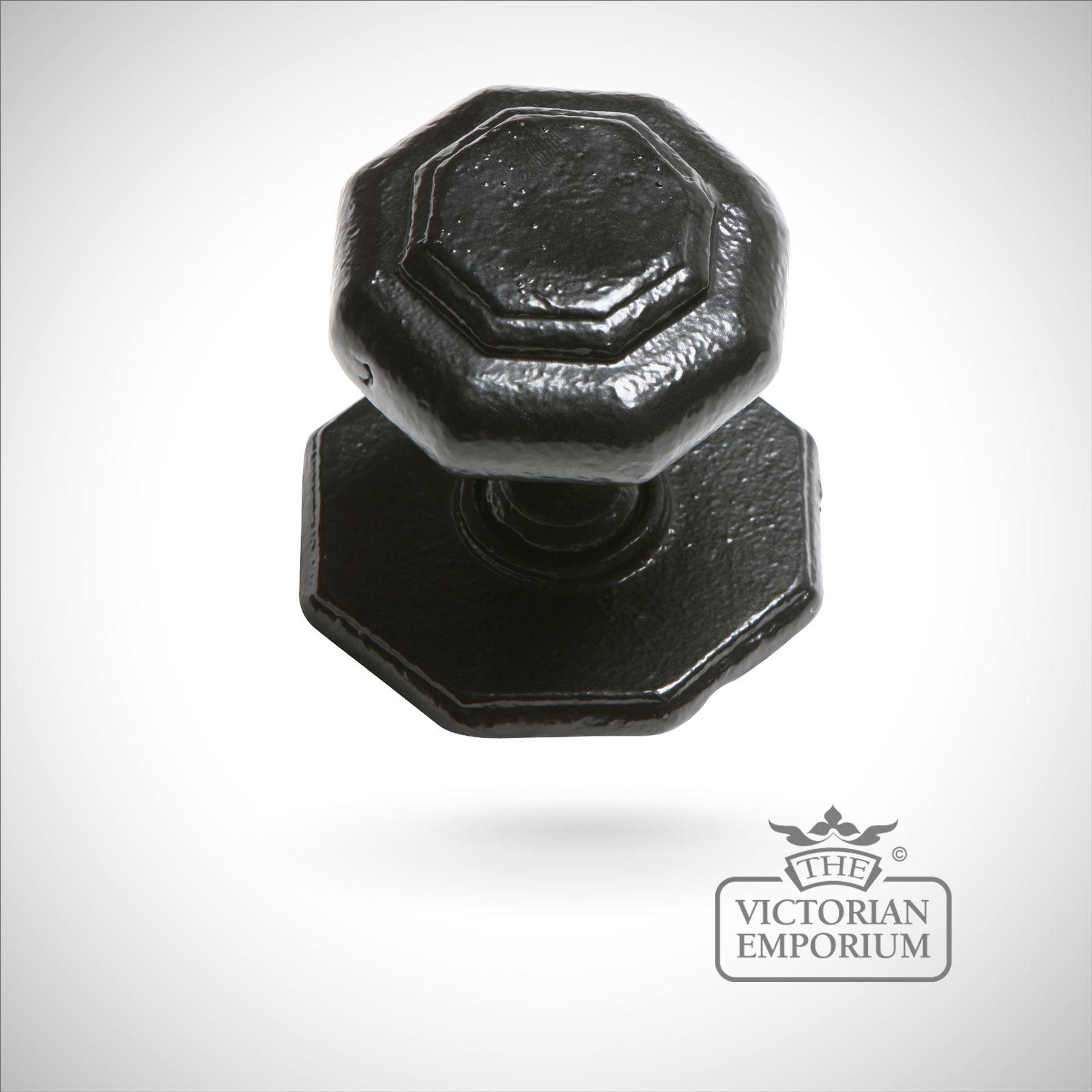 iron handcrafted hexagonal centre door knob