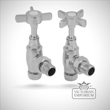 Classic heated towel rail valves