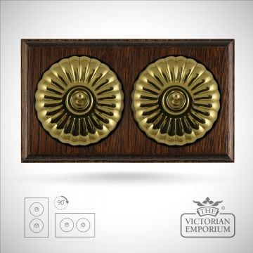 2 gang period light switch - fluted in a choice of finishes