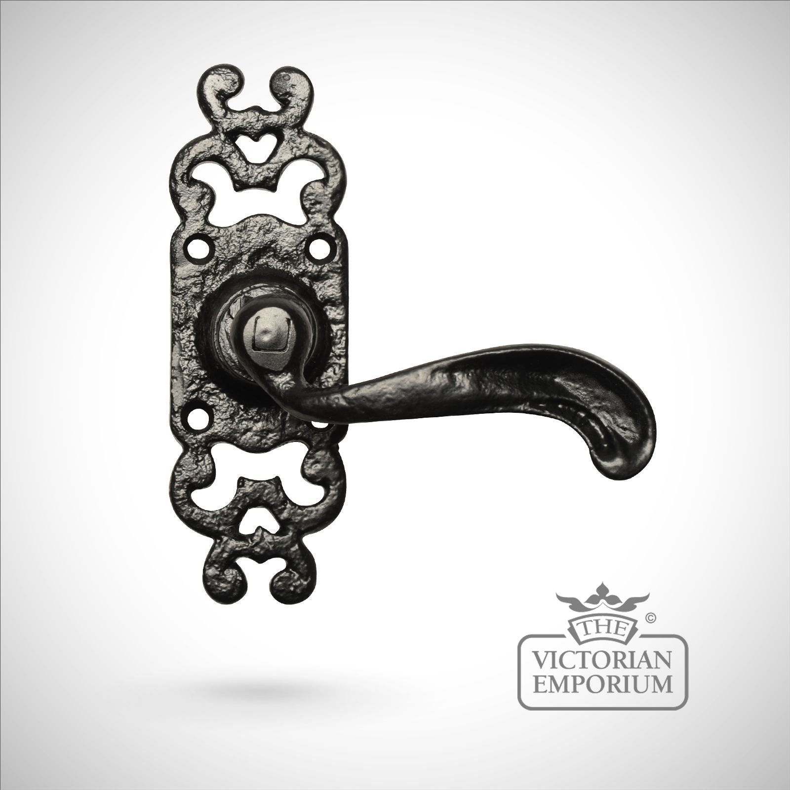 Highly Decorative Black Iron Handcrafted Door Handle