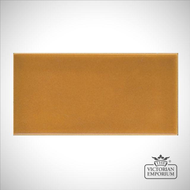 V&A Collection puddle glazed tile in Honey 152x76mm
