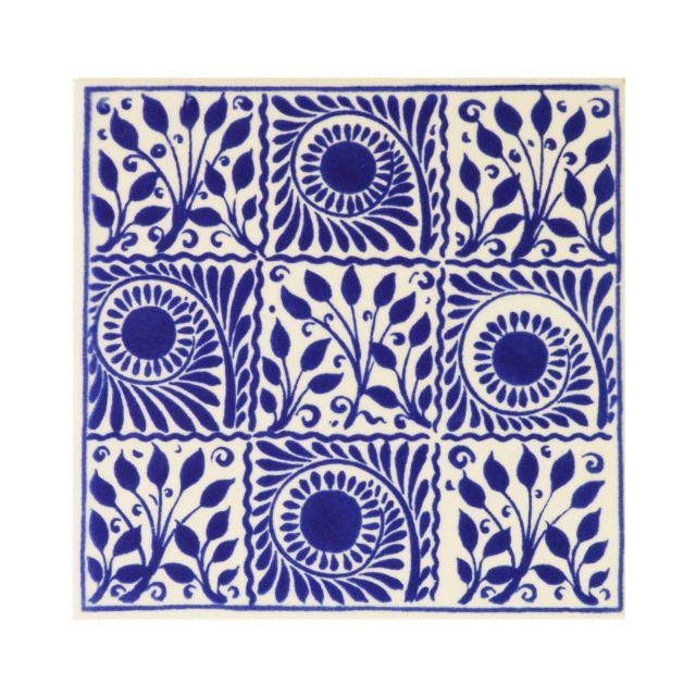 V&A Collection William de Morgan 9 Square Tiles