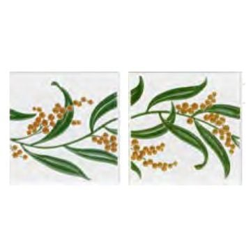 V&A Collection Two Tile Sets - Berries 152x152mm x 2 tiles