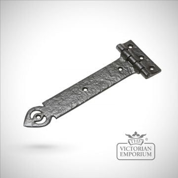 Black iron handcrafted hinge pair - in range of sizes - Style 2