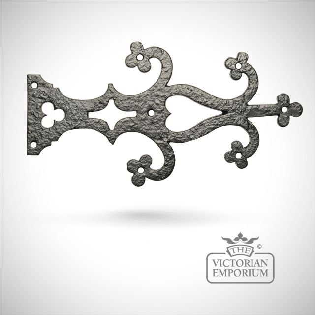 Black iron handcrafted hinge front pair