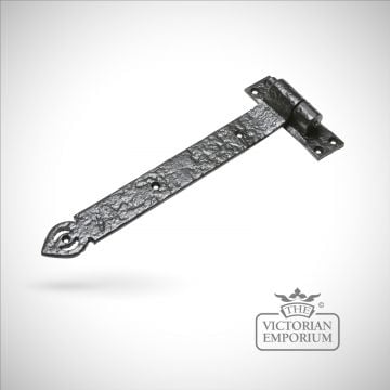 Black iron handcrafted hinge pair - Style 15