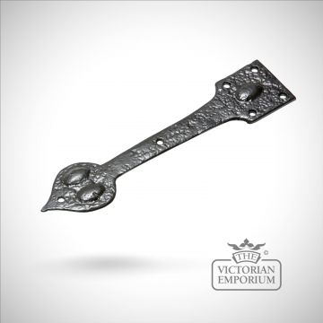 Black iron teardrop handcrafted hinge pair