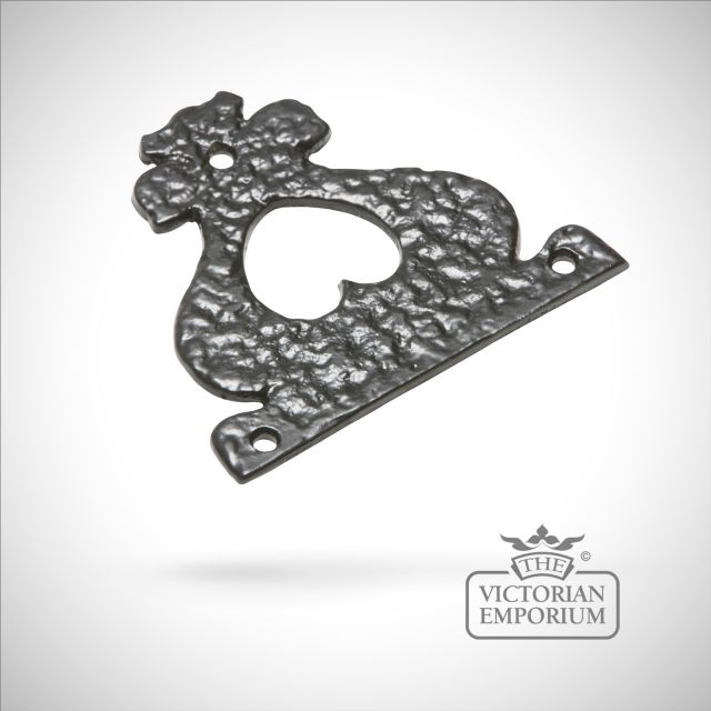 Black iron handcrafted hinge pair - Style 18