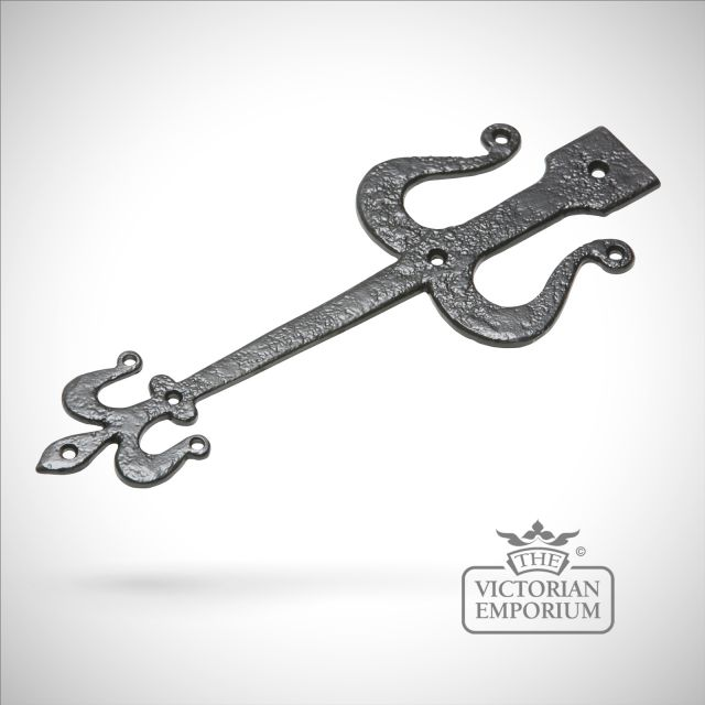 Black iron handcrafted hinge front pair - 3 sizes