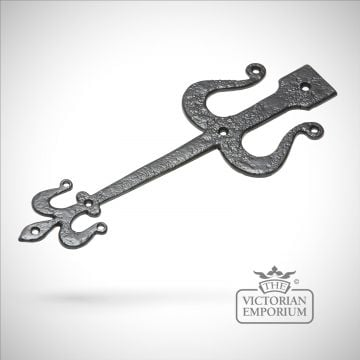 Black iron handcrafted hinge pair - Style 3
