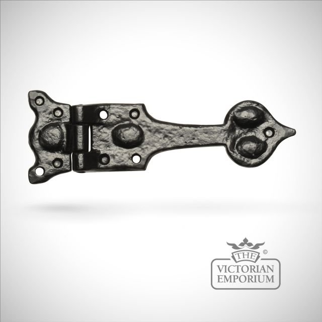 Black iron handcrafted hinge pair - Style 2