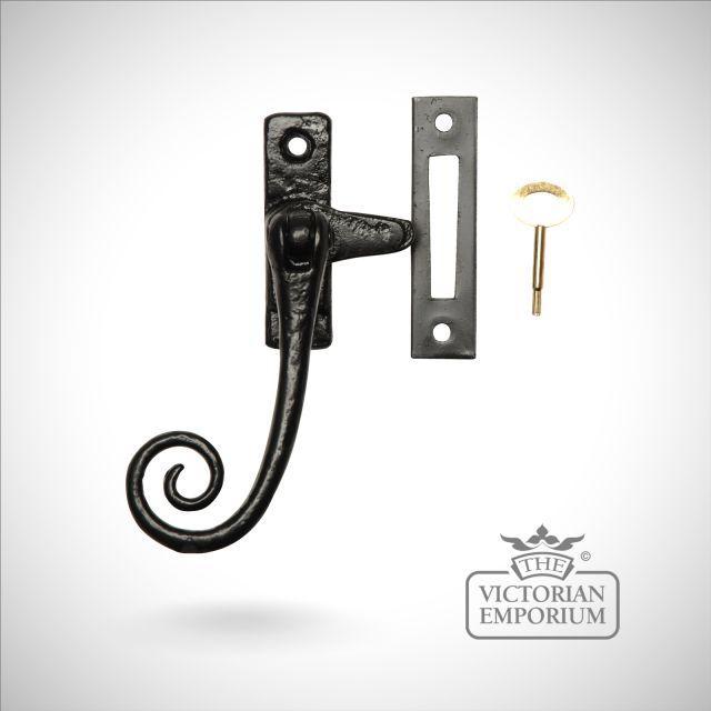 Black iron lockable fastener - Style 3